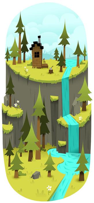 Cabin, woods